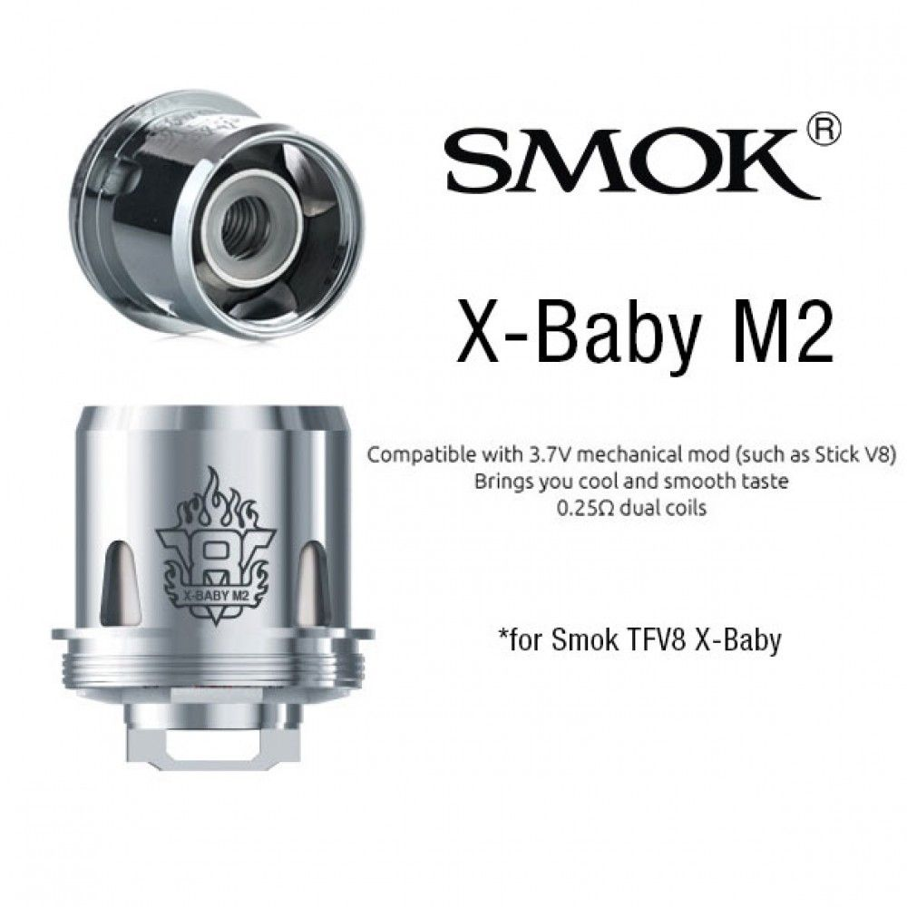 Žhaviaca hlava X-Baby M2 pre Smok TFV8 X-BABY Tank - 0,25 ohm