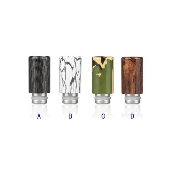 510 Drip Tip Aluminum Hydrographic Coated Green Sound