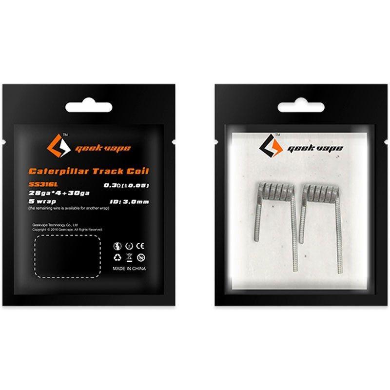 GeekVape CATERPILLAR TRACK špirálky SS316L 28GAx4+30GA, 0,3Ω - 2ks