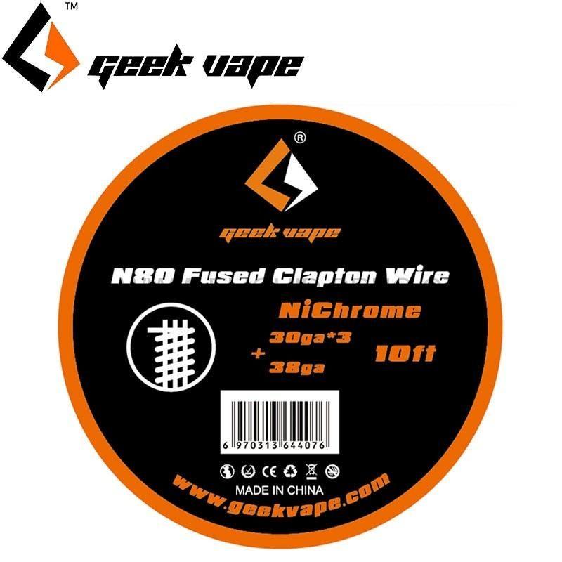 Geekvape N80 FUSED CLAPTON drôt (30GAx3 + 38GA), 3m