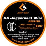 Geekvape SS Juggernaut odporový drôt, SS316L (28GA+38GA)x2+Ribbon(38GAx24GA), 3m