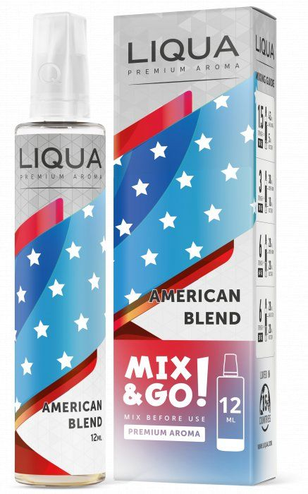 AMERICKÝ TABAK / American Blend - LIQUA Mix&Go 12ml Ritchy Group