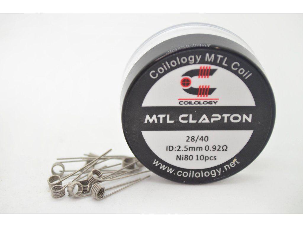 Coilology MTL CLAPTON špirálky Ni80 28GA/40GA, 0,92Ω, 10ks
