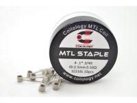 Coilology MTL STAPLE špirálky SS316L, 4-.1*.3/40GA, 0,50Ω, 10ks