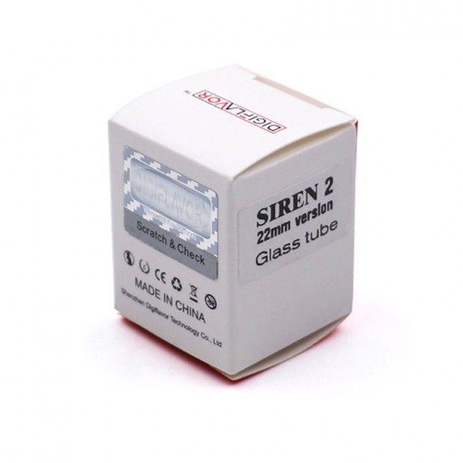 Digiflavor SIREN 2 RTA - náhradné sklenené telo, 2ml (22mm)