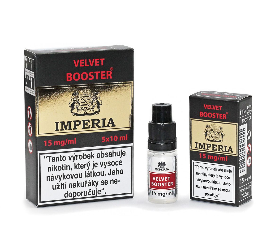 IMPERIA Velvet Booster 15mg - 5x10ml (20PG/80VG)