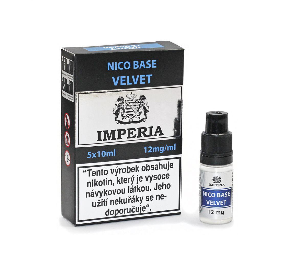 Velvet Base Imperia 12 mg - 5x10ml (20PG/80VG)