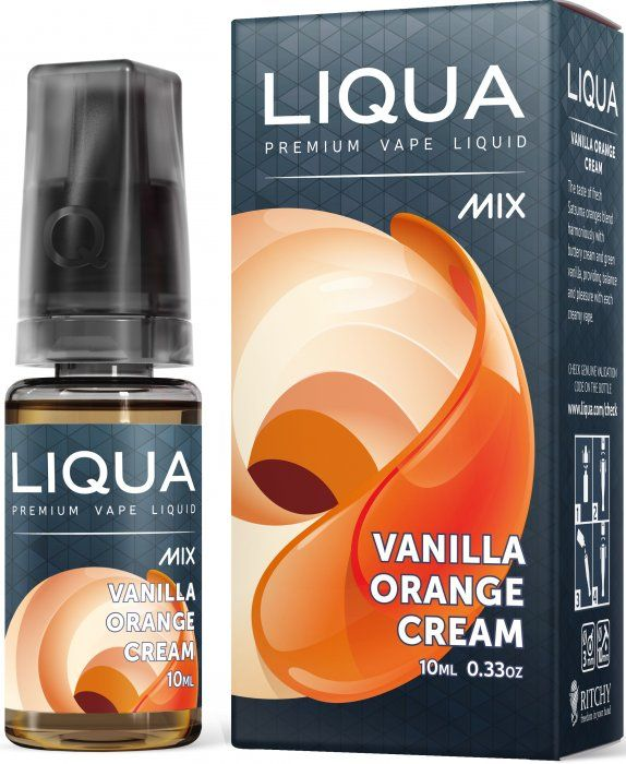 POMARANČOVÝ KRÉM / Vanilla Orange Cream - LIQUA Mix 10 ml exp.:3/19