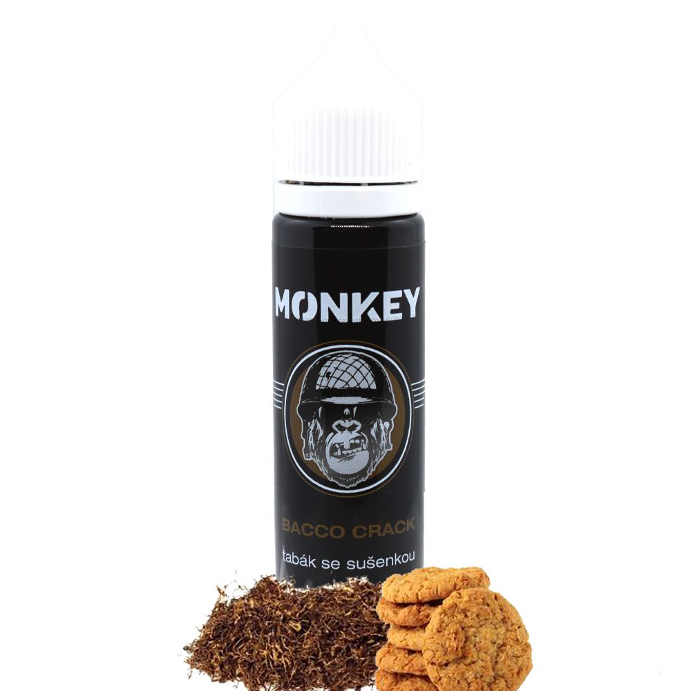 BACCO CRACK / Tabak so sušienkou - Monkey shake&vape 12ml Monkey liquid s.r.o.