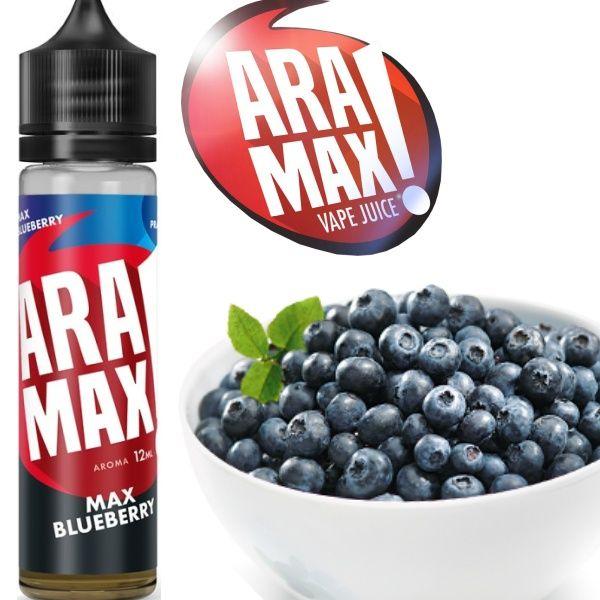 MAX BLUEBERRY / Čučoriedky - shake&vape Aramax 12ml