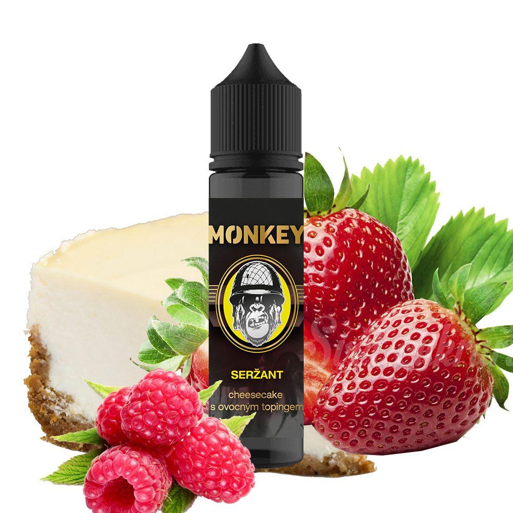 SERŽANT - chesecake s jahodovo-malinovým topingom - Monkey shake&vape 12ml Monkey liquid