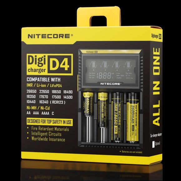 Nitecore D4 nabíjačka s displejom 4 sloty SYSMAX Industry Co., Ltd.