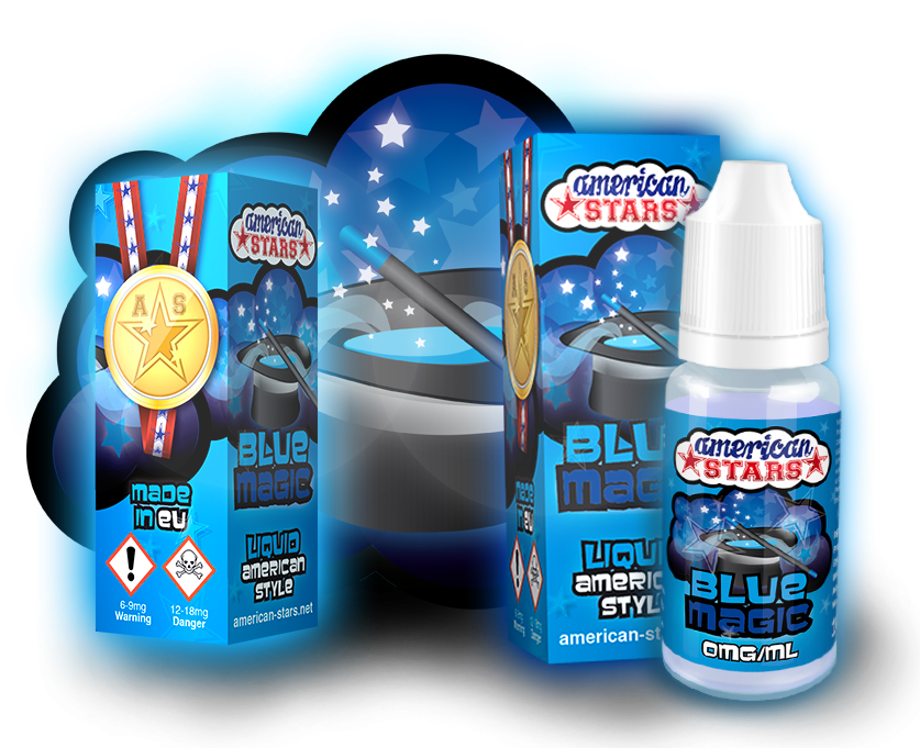 BLUE MAGIC - e-liquid American Stars 10ml Flavourtec
