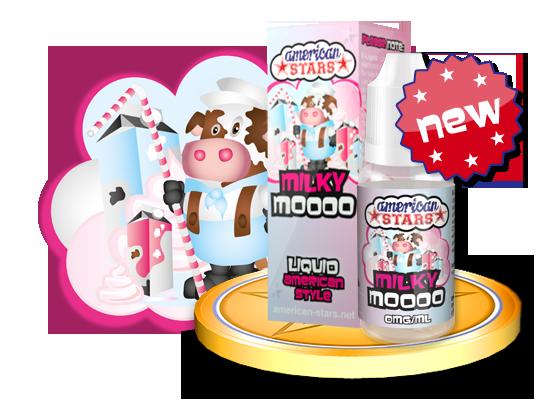 MILKY MOOOO - e-liquid American Stars 10ml Flavourtec
