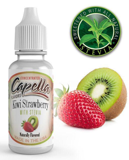 KIWI A JAHODA SO STÉVIOU / Kiwi Strawberry with Stevia - Aróma Capella