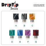 510 Acrylic and Insert Stainless Steel Drip Tip