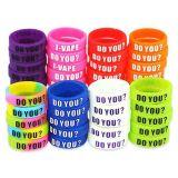 Dekorativní a ochranné silikonové kroužky 1ks | červená, oranžová, rainbow (duhová), zelená, bílá, modrá, ružová