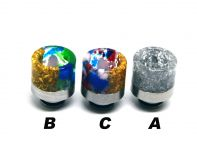 Drip Tip 510 Stainless Steel Resin | typ-B-gold/blue/green, typ-C-gold/blue/red