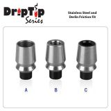 Náustok 510 Stainless Steel and Derlin Friction Fit | A - široký otvor, B - úzký otvor, C - Black Delrin Fitting